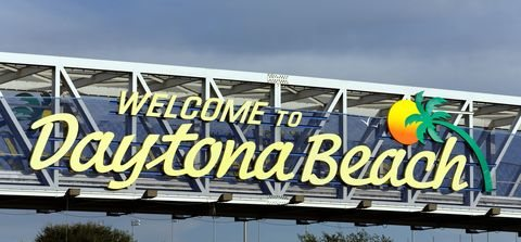 Daytona Beach Welcome Sign